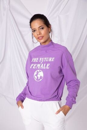 Zafoni Kadın Mor Sweatshirt