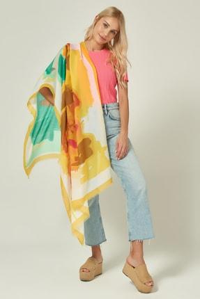 Y-London 13086 Batik Desenli Sarı Şal