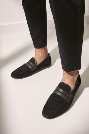 Yaya  by Hotiç Hakiki Deri Sıyah Erkek Loafer Ayakkabı 02AYY602520A100