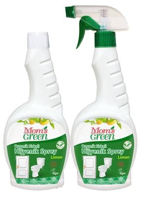 Mom's Green 2'li Set Organik Sirkeli Hijyenik Sprey Ve Yedek Şişe Limon 750 Ml