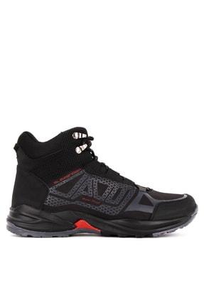 Slazenger Alkan Outdoor Erkek Outdoor Su Geçirmez Bot Ayakkabı Siyah / K.gri
