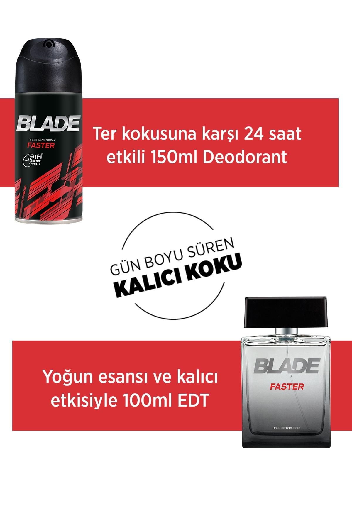 Blade Faster Erkek Deodorant 3x150ml 2