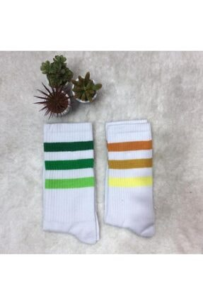ADEL ÇORAP 2'li Unisex Şeritli Çorap