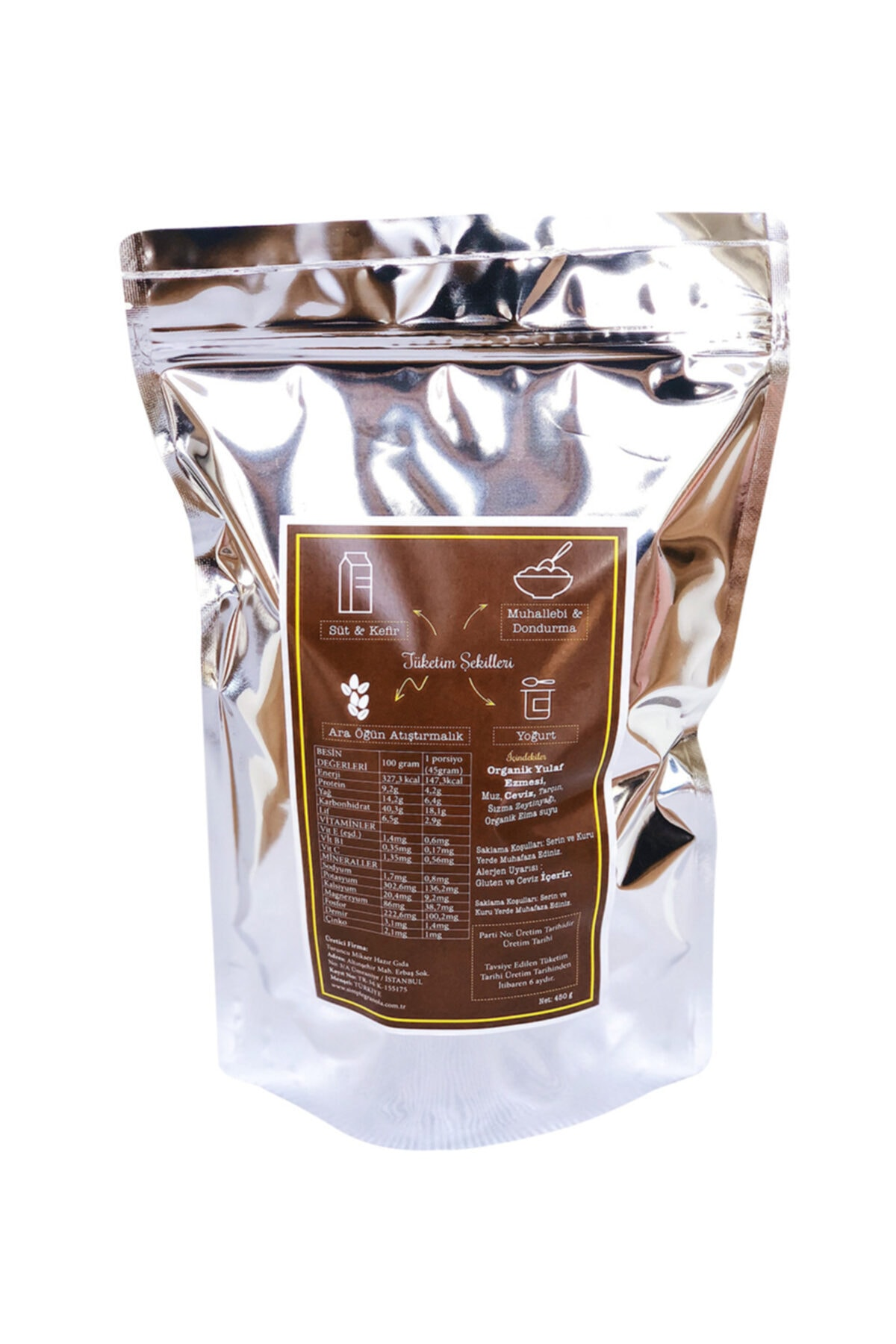 Simple Granola Muzlu Ve Cevizli Granola 450 Gram 2