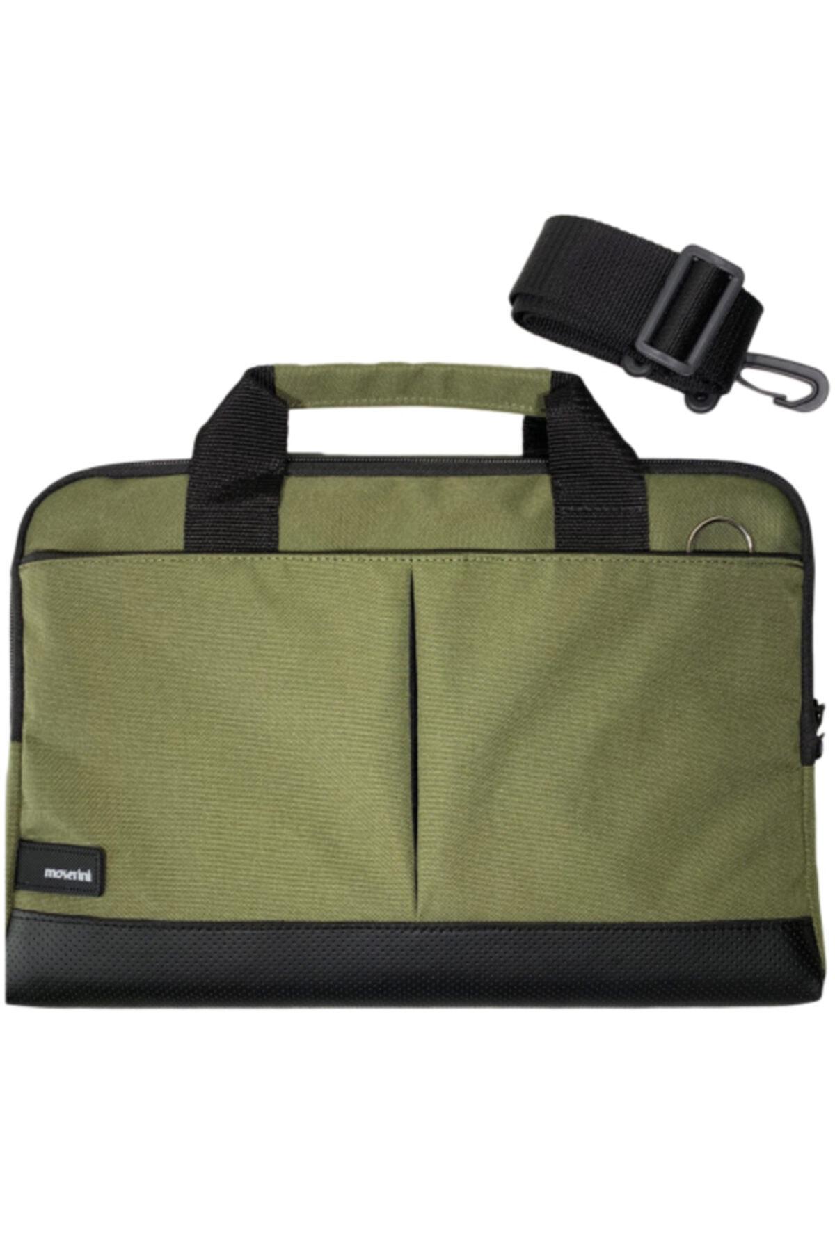 Moserini 15.6'' Taban Korumalı, Omuz Askılı Notebook Laptop Macbook Çantası - Haki 1