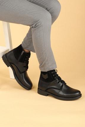 Ayakland Erkek Siyah Termo Taban İçi Peluş Fermuarlı Bot Ayakkabı 660