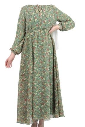Kayra Kadın Fındık Yeşil Kolları Ve Sırtı Çizgi Detaylı Bluz Ky-b20-70004