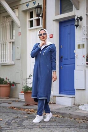 Camelya Fashion Kadın  İndigo  Ikili Takım