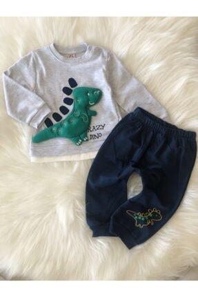 Crazy Baby Erkek Çocuk 9-12-18 Ay Dino Oyuncaklı Takım