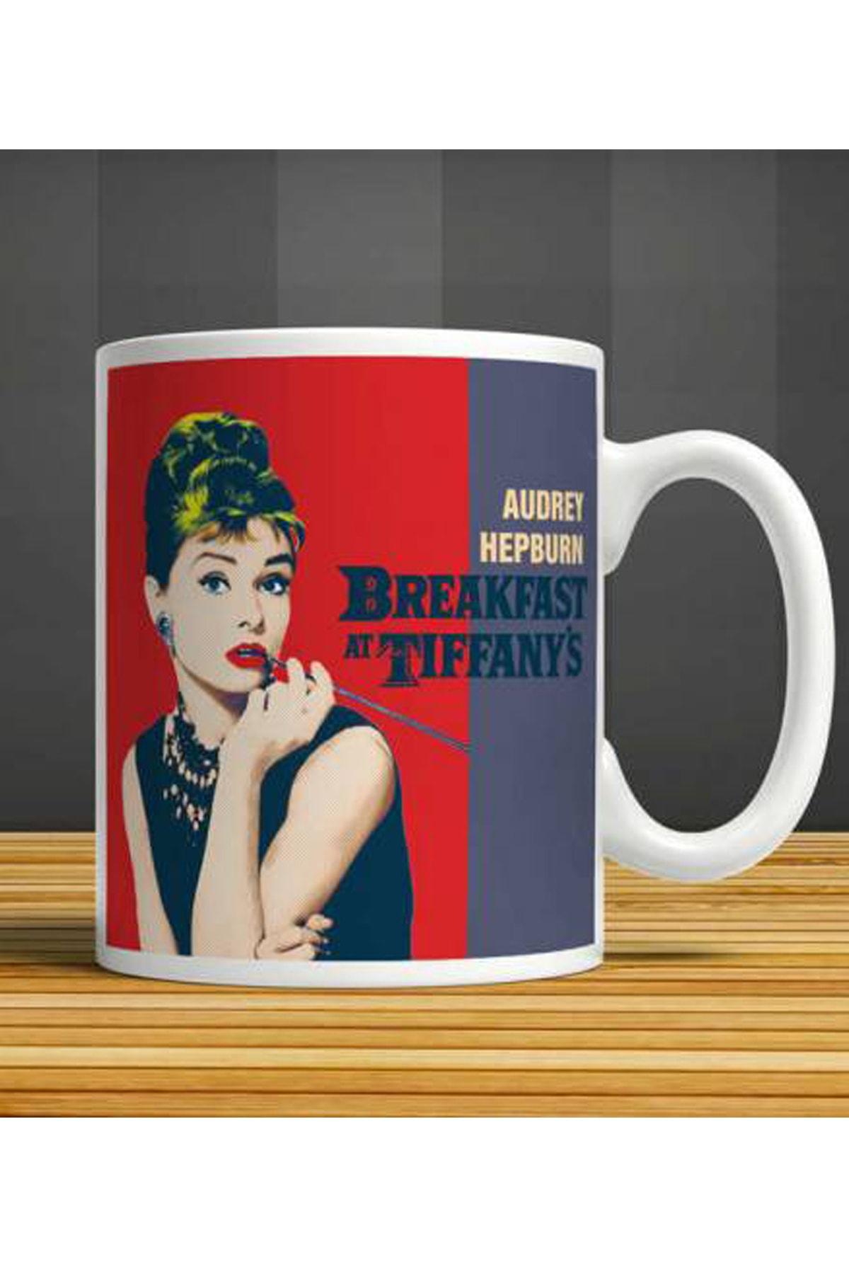 MET DESİGN Audrey Hepburn Breakfast Tiffany Porselen Kupa Bardak 1