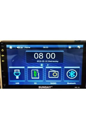 Pioneer Sunsay Mb-30 7 Inch Double Teyp Mp5 Player Bluetoothlu Double Teyp