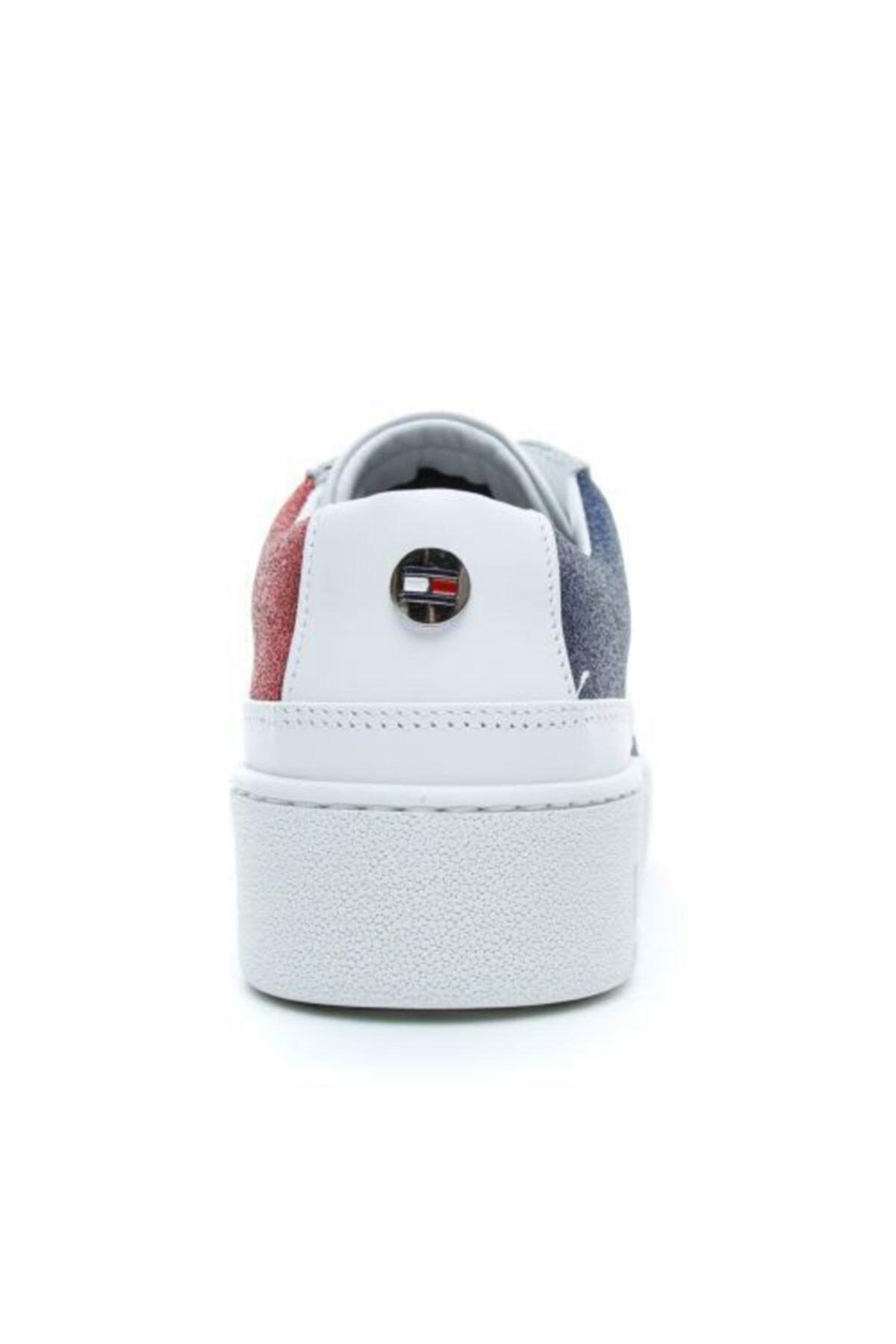 Tommy Hilfiger Kadın Mavi Bağcıklı Ayakkabı 2