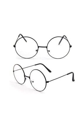 Decassa Harry Potter Anti Mavi Işınlı Unisex Retro Metal Çerçeve Şeffaf Lens Gözlük