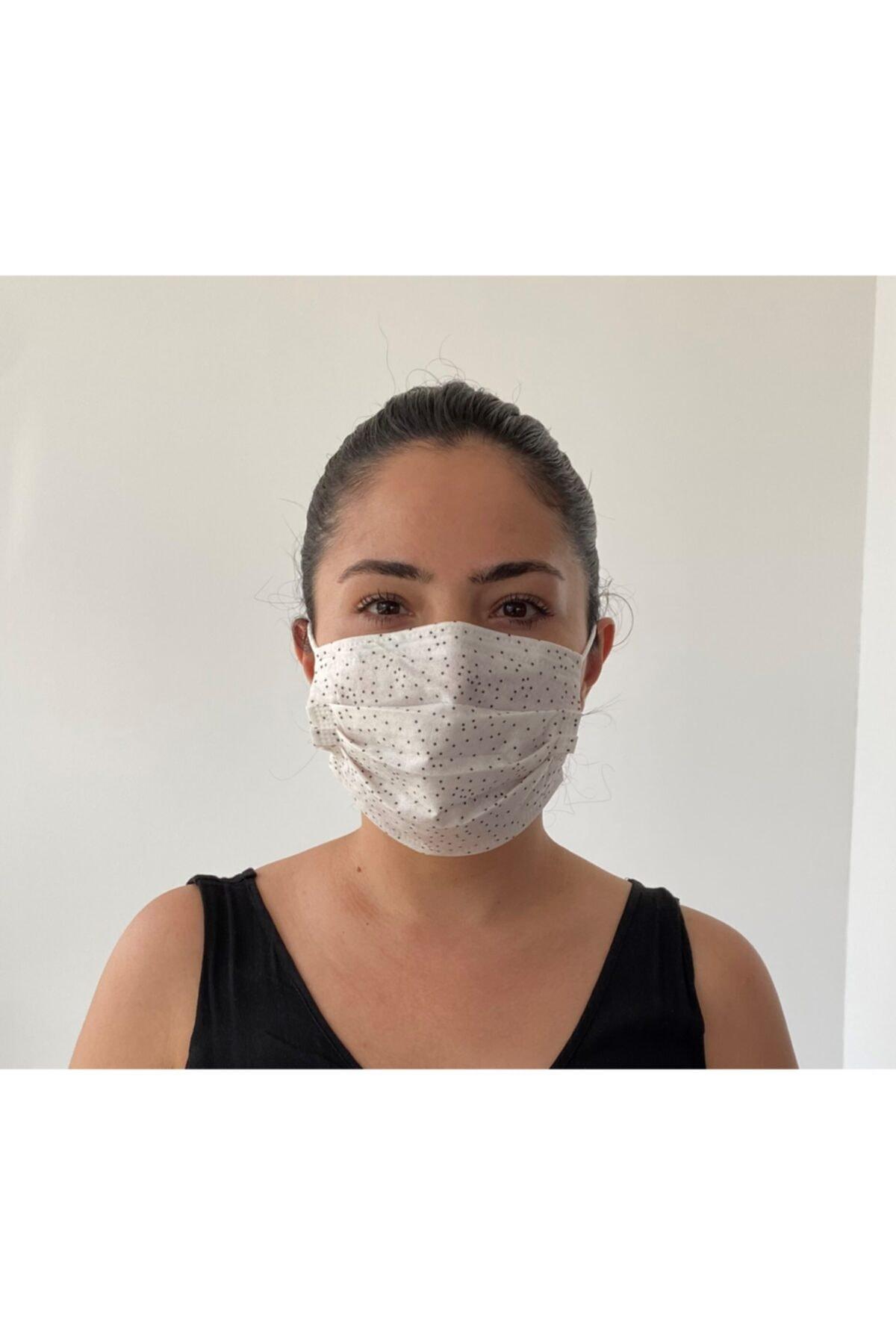 Bosmax 10'lu Desenli Maske 3katlı Burun Telli 1