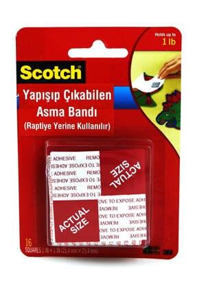 3M Scotch Çift Taraflı Yapışıp Çıkabılen Asma Bandı