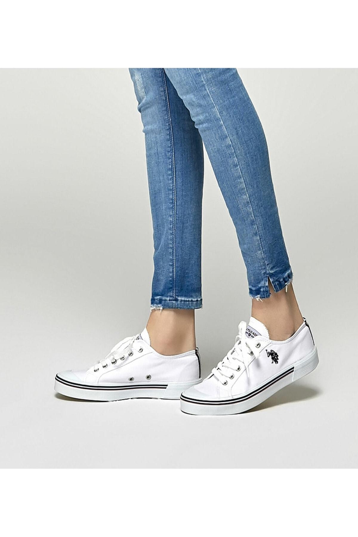 U.S. Polo Assn. U.s. Polo Assn. Kadın Spor Ayakkabı 8m Penelope Beyaz/White 20S04PENELOPE 1