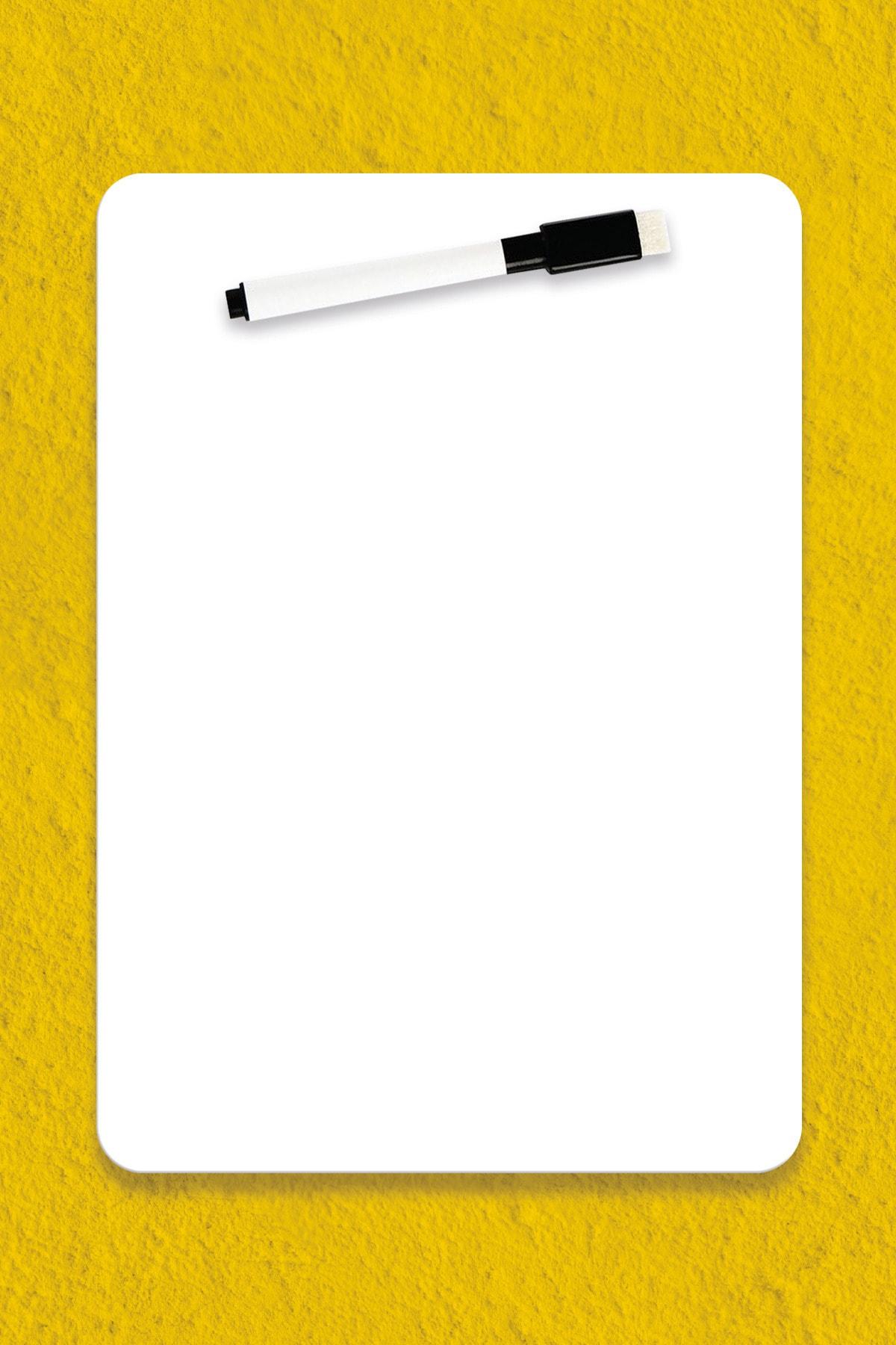 WALLMAGE ® Easyboard Kararmaz Beyaz Yazı Tahtası - A3 29.7 cm X 42 cm 1