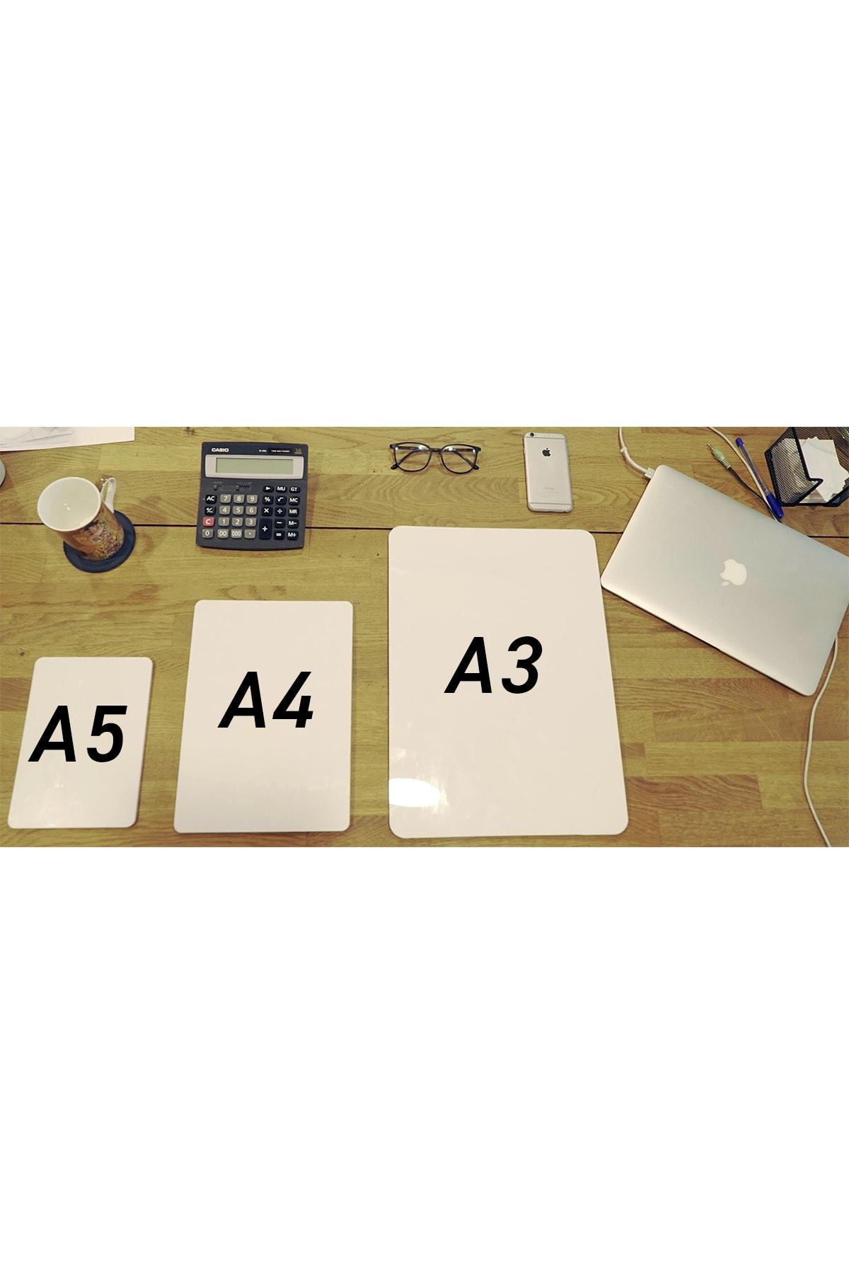 WALLMAGE ® Easyboard Kararmaz Beyaz Yazı Tahtası - A3 29.7 cm X 42 cm 2