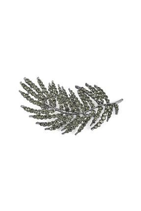 İpekyol Kadın Metalik Yaprak Figür Broş