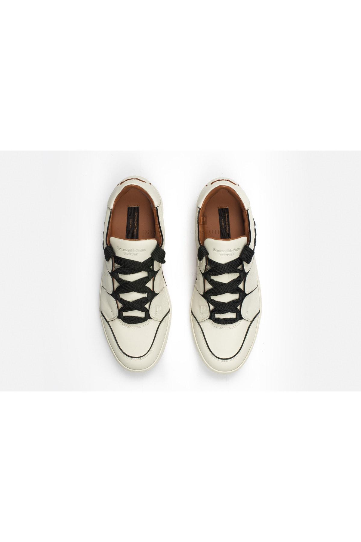 Ermenegildo Zegna Erkek Beyaz Sneakers 2