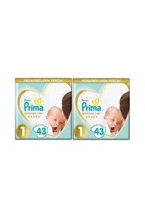 Prima Premium Care 1 Numara 43'lü X 2 86'lı Bebek Bezi