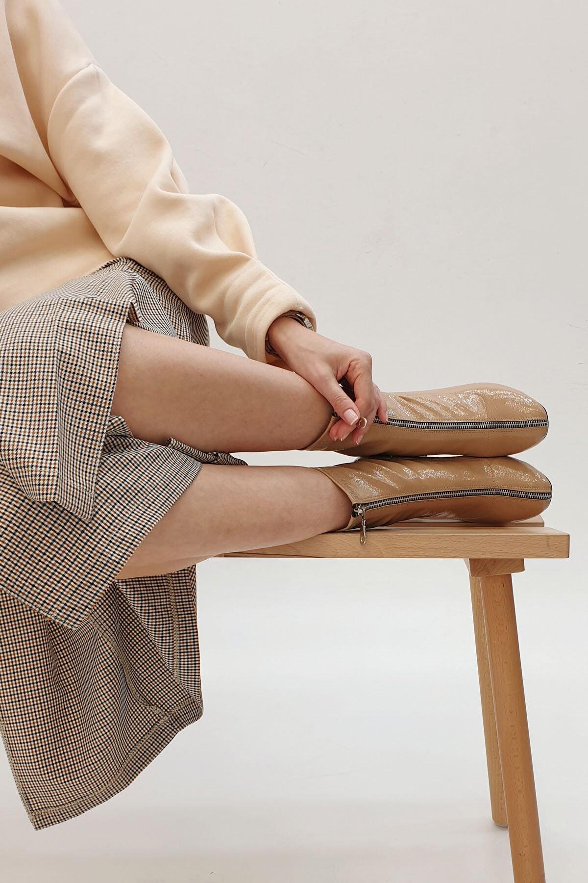 Marjin Miven Kadın Topuklu Botbej Rugan 2