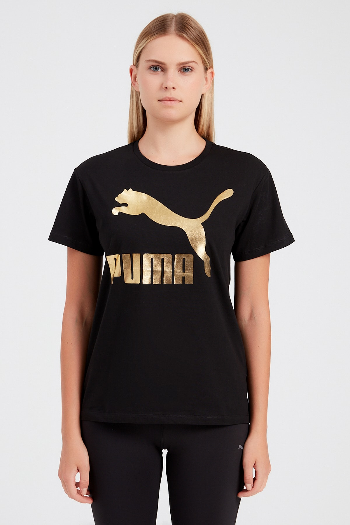 Puma Erkek Siyah Classics Logo Tee T-shirt 1