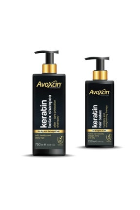 AVOXCIN Keratin Hydrating and Straightening Hair Botox - Saç Botoksu & Şampuan 2'li Set