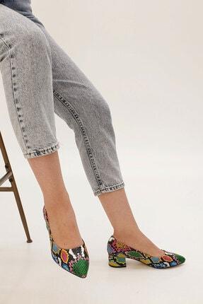Marjin Kadın Yeşil Apunte Klasik Topuklu Ayakkabı