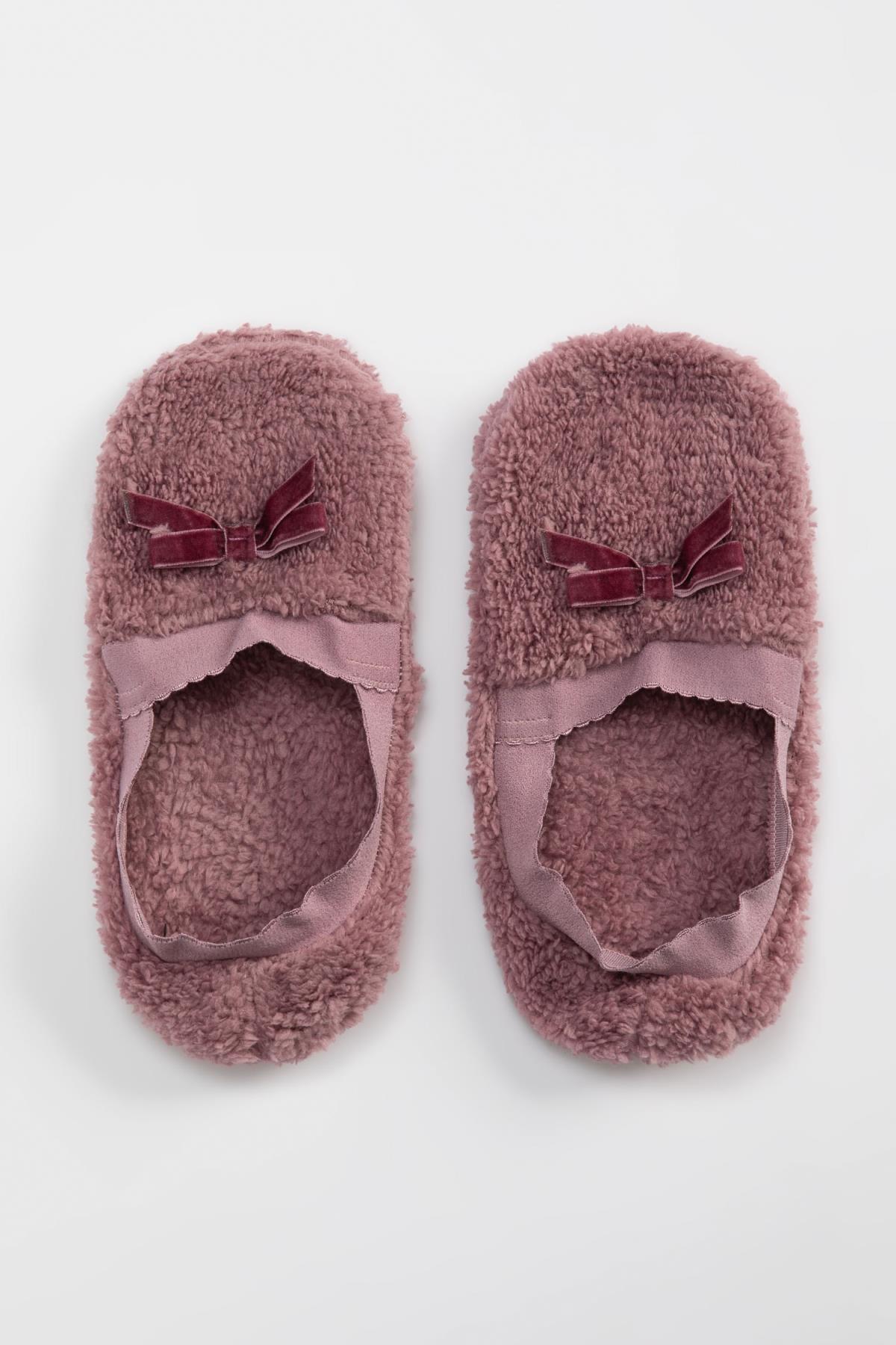 DeFacto Kadın Lilla Peluş Ev Ayakkabısı N1335AZ20AU