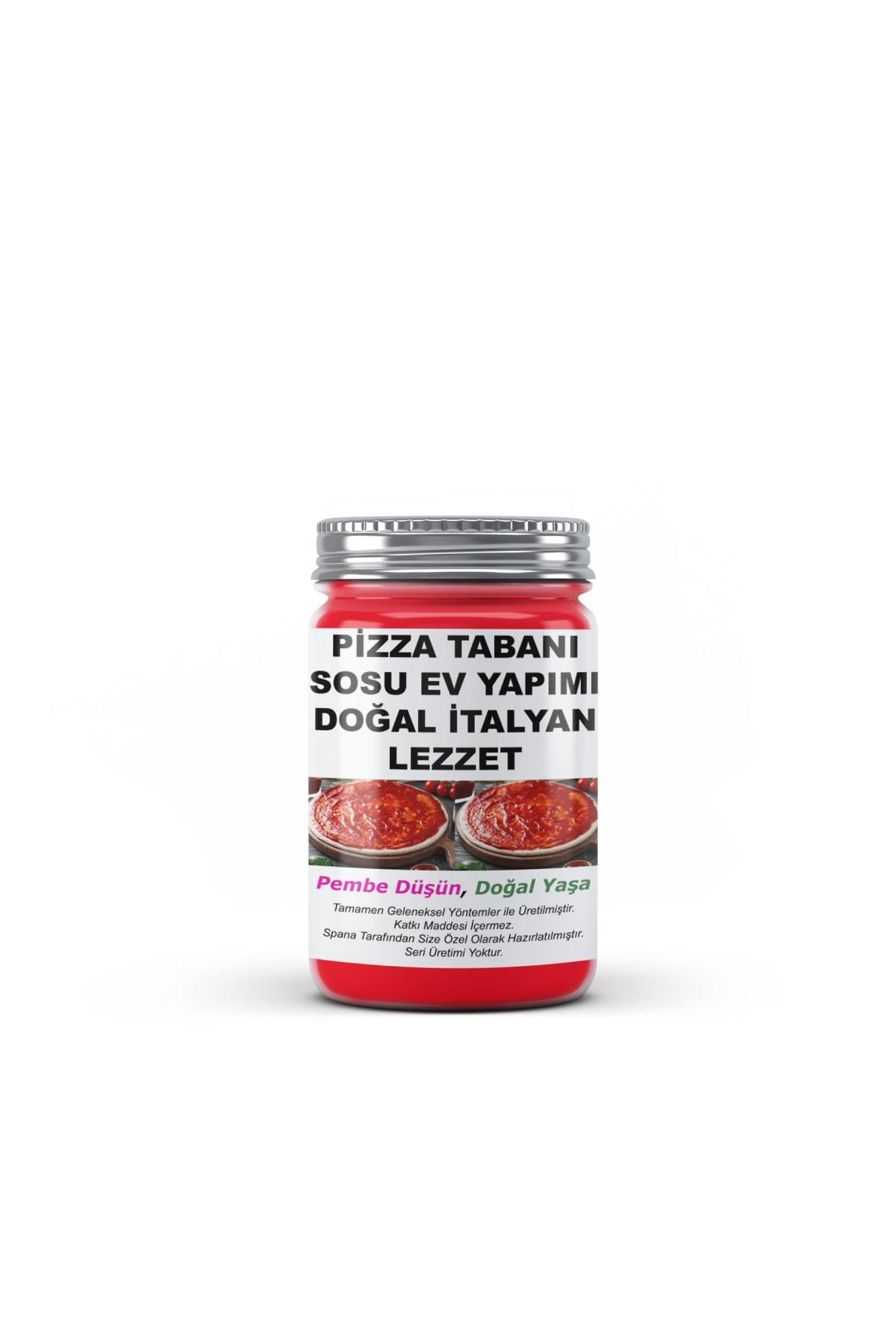 SPANA Pizza Tabanı Sosu Doğal Italyan Lezzet Ev Yapımı Katkısız 330 gr 1