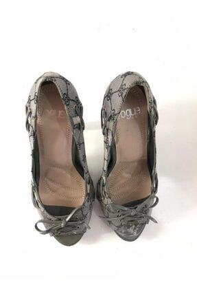 Podyum Kadın Metalik Günlük Topuklu Ayakkabı 237