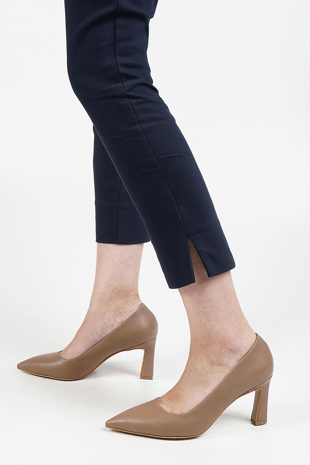 Marjin Kadın Vizon Akuna Stiletto Topuklu Ayakkabı 1