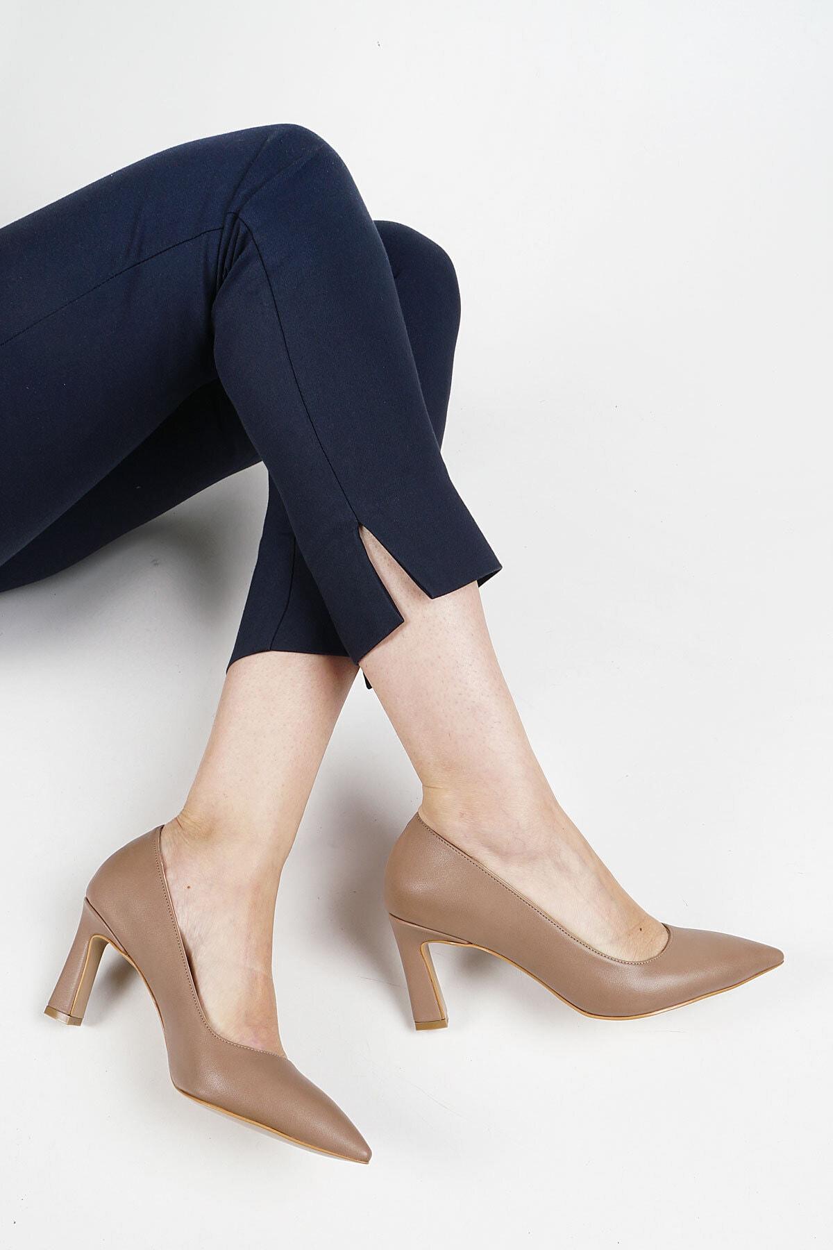 Marjin Kadın Vizon Akuna Stiletto Topuklu Ayakkabı 2