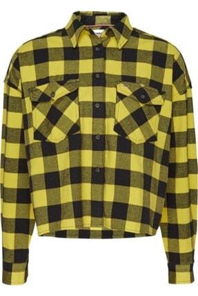 Tommy Hilfiger Kadın Sarı Tjw Gıngham Check Shırt Gömlek