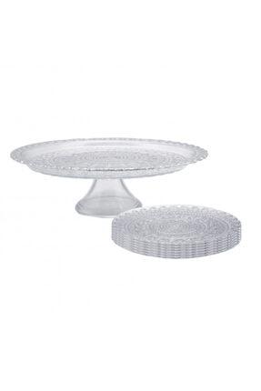 Karaca Silverlace Tatlı Kutu/Pasta Takımı