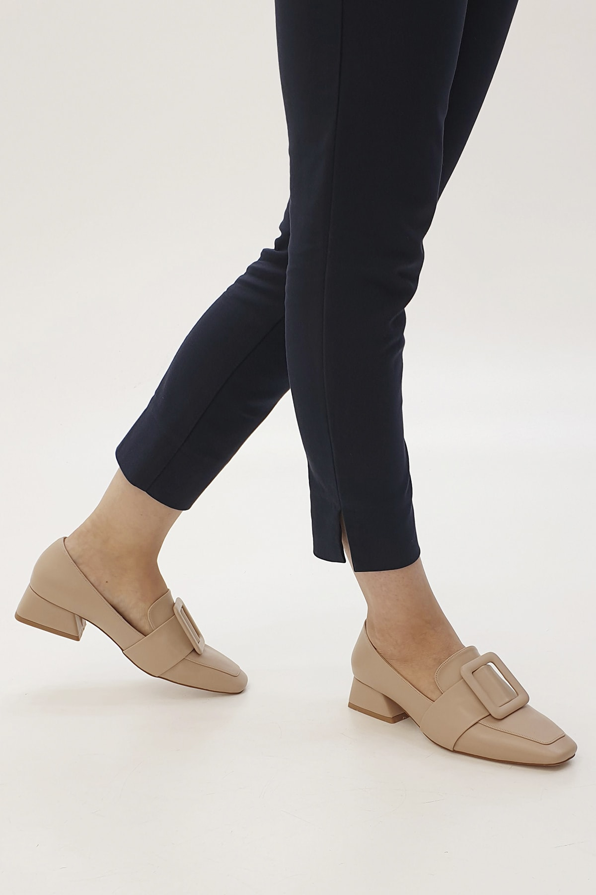 Marjin Kadın Bej Jiyona Topuklu Ayakkabı 2