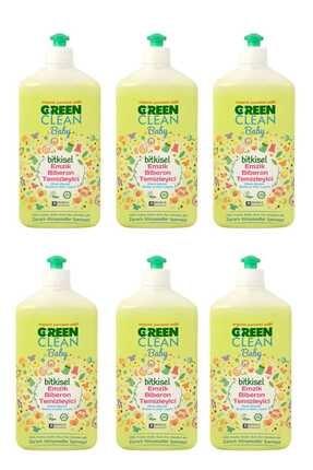 Green Clean Organik Portakal Yağlı Baby Biberon Emzik Temizleyici 500 ml - 6'lı Set