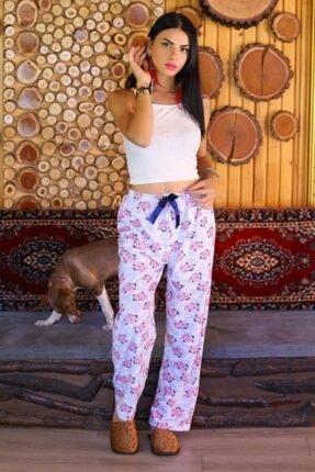 Haydigiy Kadın Pembe içi Tüylü Pijama Altı