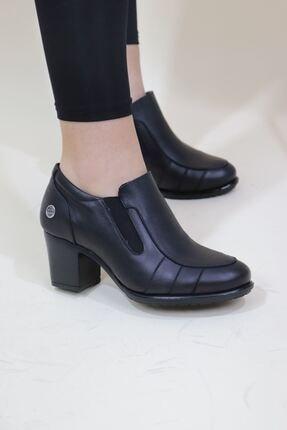 Mammamia Kadın Siyah Cilt Topuklu Ayakkabı