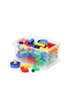 ÇAĞDAŞ Tekerlekli Boru Lego 72 Parça Kutulu