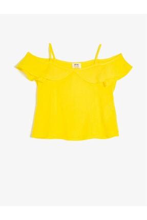 Koton Kız Çocuk Sarı Fırfır Detaylı Bluz 0ykg67720ow