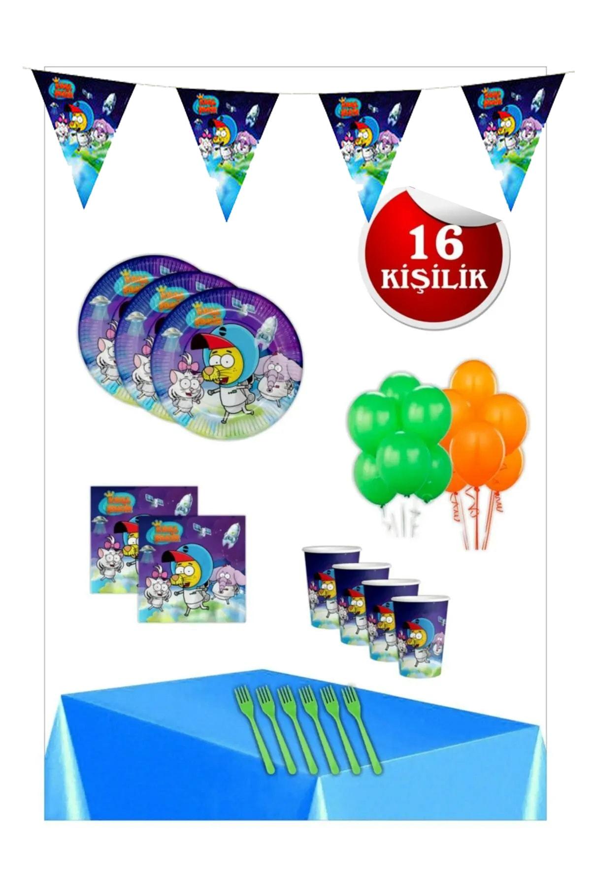 Kral Şakir Uzayda Doğum Günü Parti Seti 16 Kişilik 1