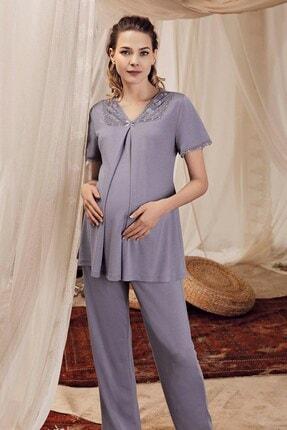 Lohusa Sepeti Kadın Lavanta Lohusa Pijama Takımı