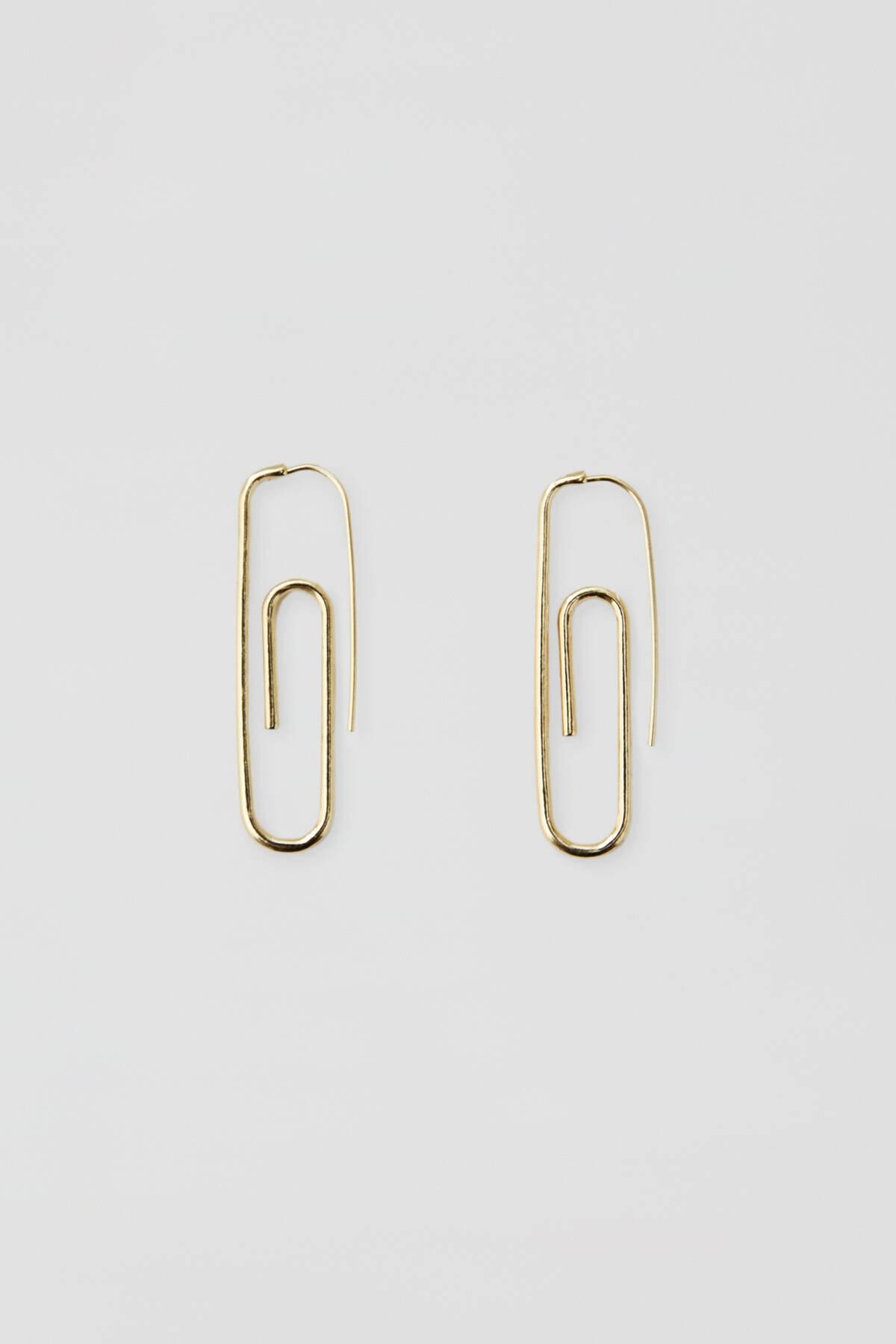 Pull & Bear Kadın Altın Rengi Altın Rengi Ataç Küpe 09996374 1