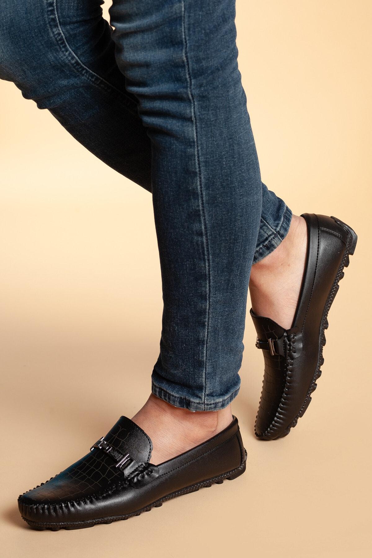 Daxtors Erkek Siyah Ortopedik Günlük Ayakkabı 2