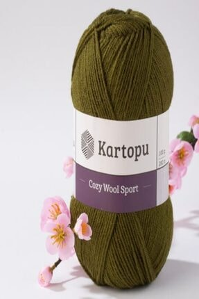 Kartopu Cozy Wool Sport Koyu Yeşil El Örgü Ipi - K410