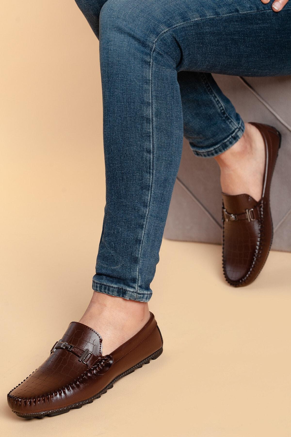 Daxtors Erkek Kahverengi Nubuk Ayakkabı 1