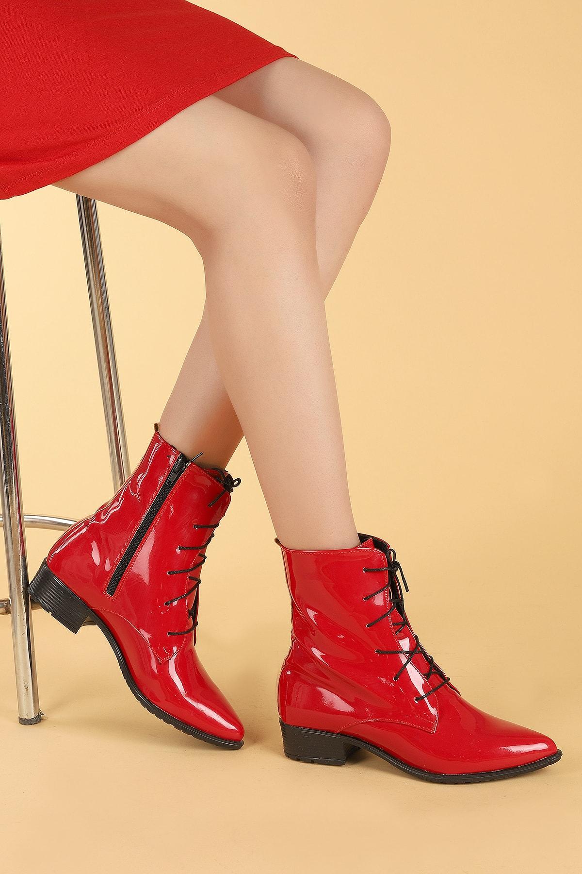 Ayakland Kadın Kırmızı Bot 1