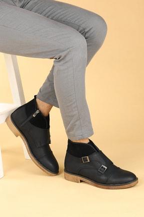 Ayakland Erkek Siyah Nubuk Termo Taban Bot Ayakkabı 5200